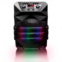 Bafle Bocina Recargable 12 Aux Usb Sd Micro Sd Microfono