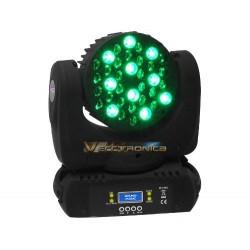 Cabeza Robotica Con Luces Hype Led Rgb Con Lupas Reflectoras
