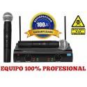 Set Profesional De Microfonos Inalambricos De Largo Alcance.