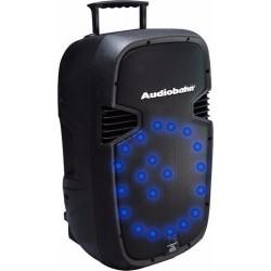 Bafle C/hyper Leds Azules Audioritmicos Recargable C/ruedas