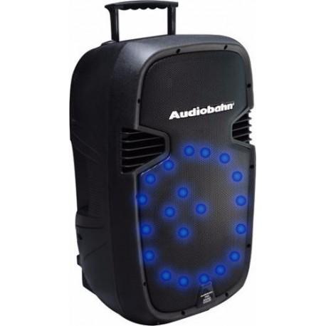 934511-MLM20558818518_012016,Bafle C/hyper Leds Azules Audioritmicos Recargable C/ruedas