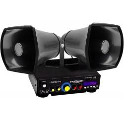 Combo De Perifoneo Profesional 2 Trompetas Y Amplificador